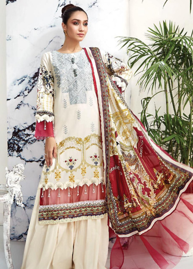 Ittehad Textiles Embroidered Lawn Unstitched 3 Piece Suit ITD20F 32 Kaina - Spring / Summer Collection