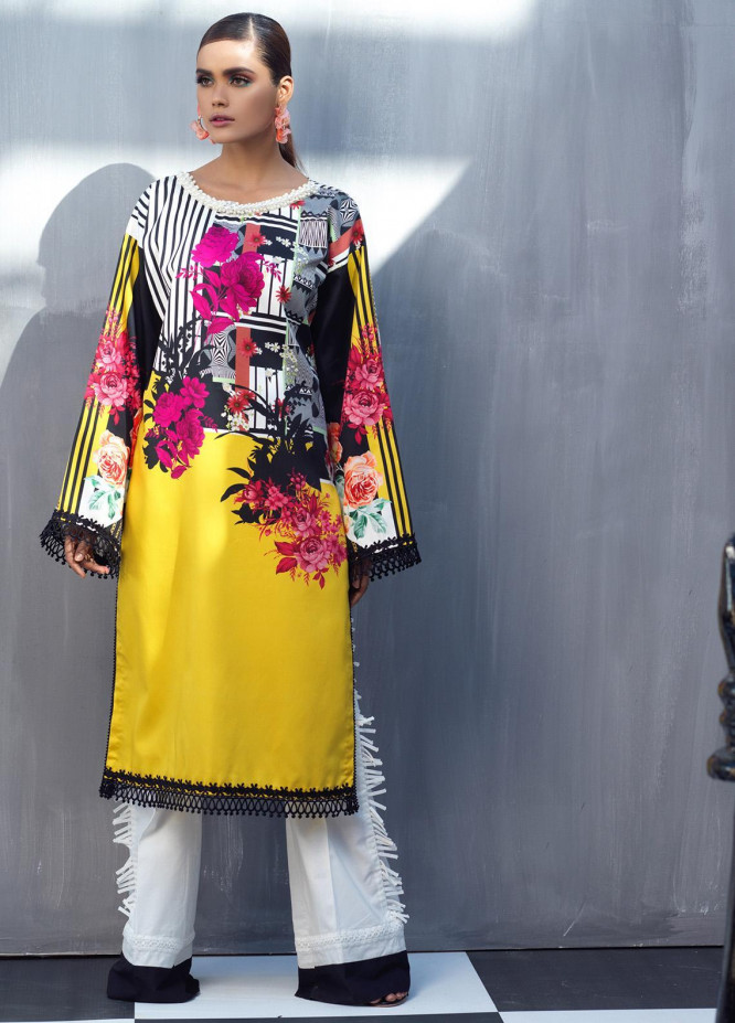 Ittehad Textiles Printed Cotton Satin Unstitched Kurties IT20C YELLOW BERRY 11 - Spring / Summer Collection