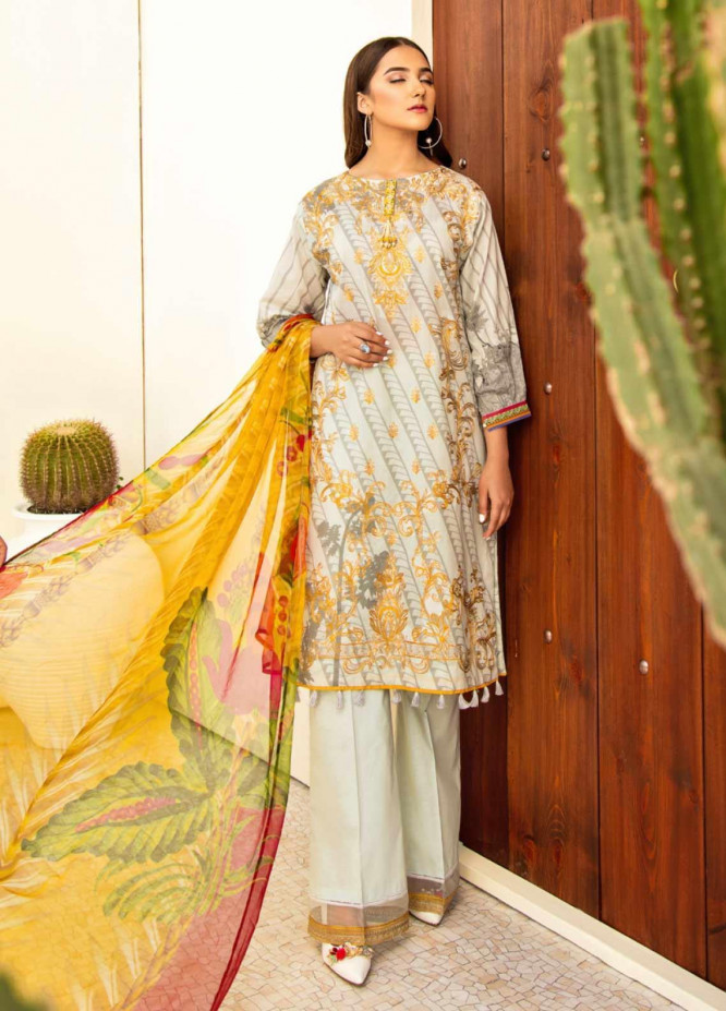 Iznik Embroidered Lawn Unstitched 3 Piece Suit IZ20C 04 Oasis - Summer Collection
