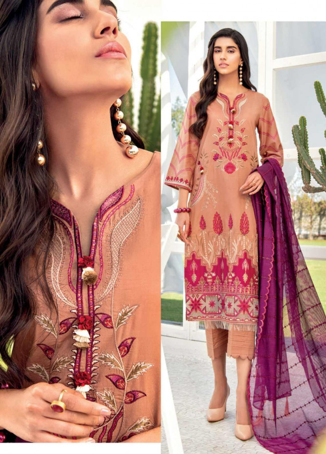 Iznik Embroidered Lawn Unstitched 3 Piece Suit IZ20C 09 Sand Storm - Summer Collection