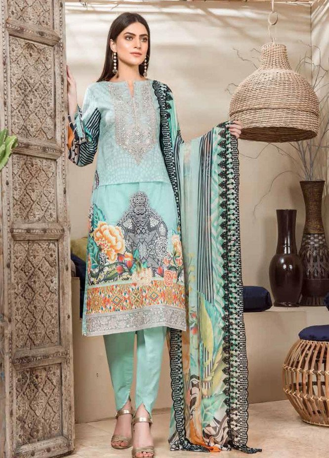 Jannan by Riaz Arts Embroidered Lawn Unstitched 3 Piece Suit RA20J JN-03 - Spring / Summer Collection