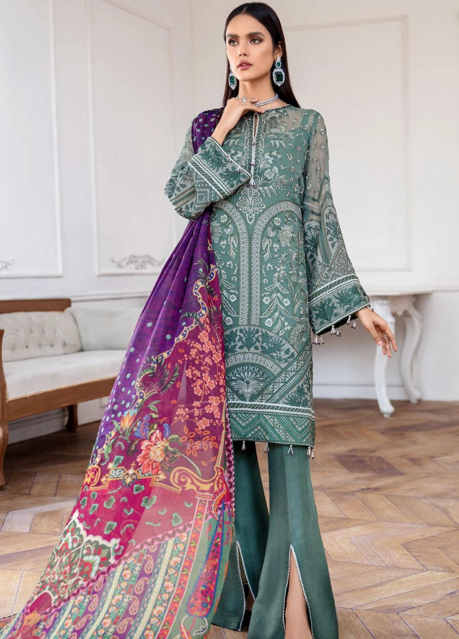 Mahpare by Jazmin Embroidered Chiffon Unstitched 3 Piece Suit JZ20M 09 Vasl - Luxury Collection