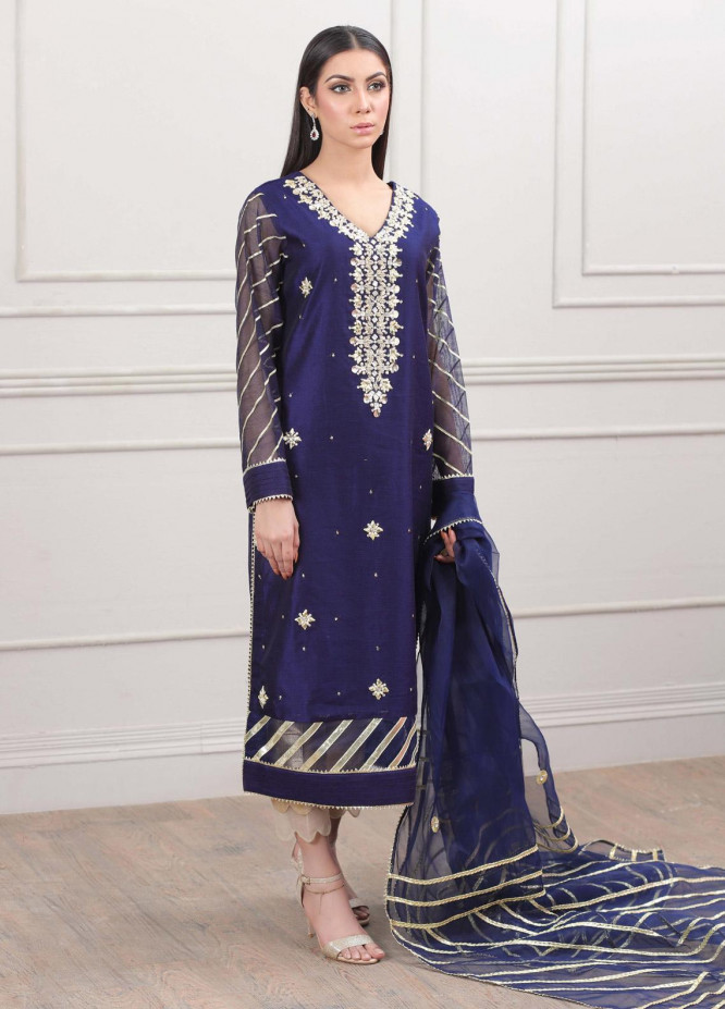 Kaara Formal Chiffon Stitched 2 Piece Suit KR580
