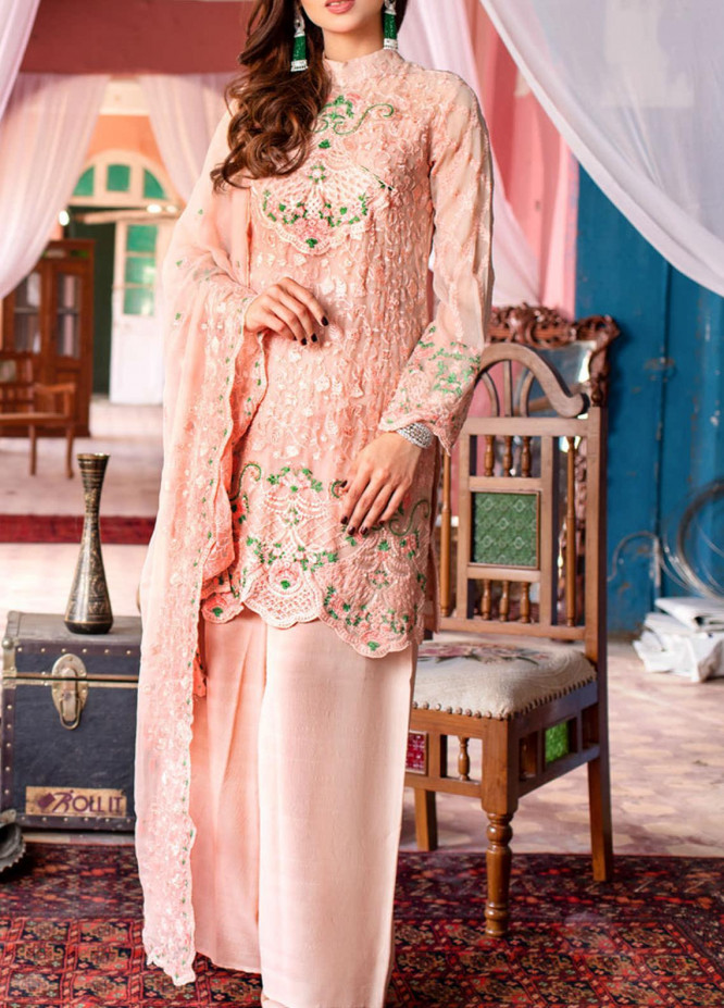 Kalyan by ZS Textile Embroidered Chiffon Unstitched 3 Piece Suit KLY20CE 02 - Luxury Collection