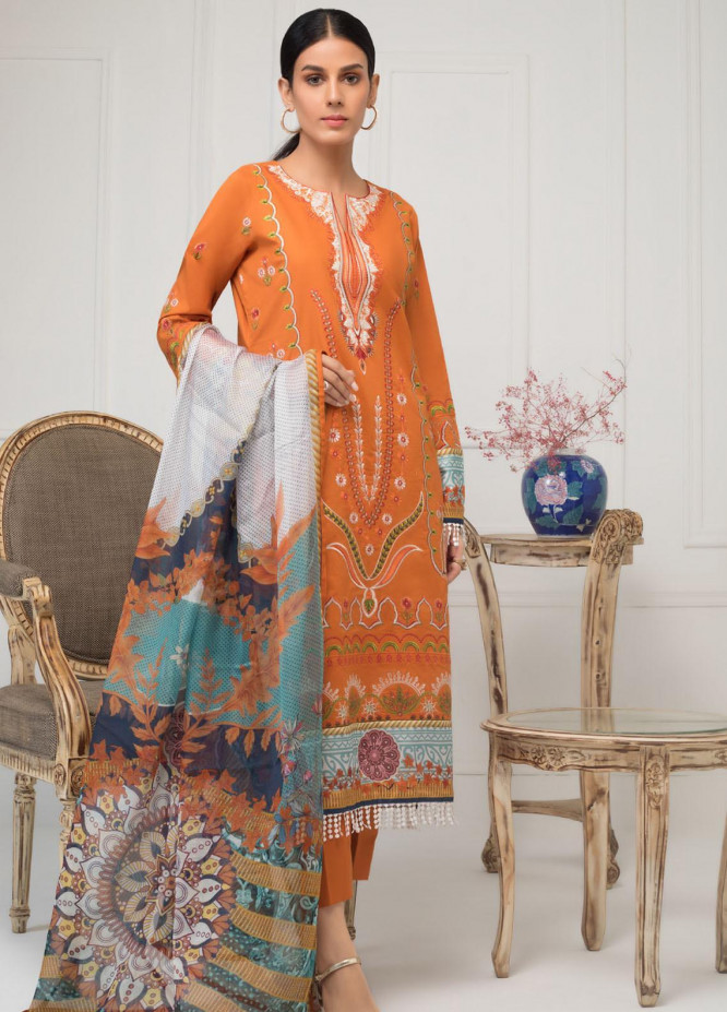 Kalyan by ZS Textile Embroidered Lawn Unstitched 3 Piece Suit KLY20-D4 05 - Summer Collection