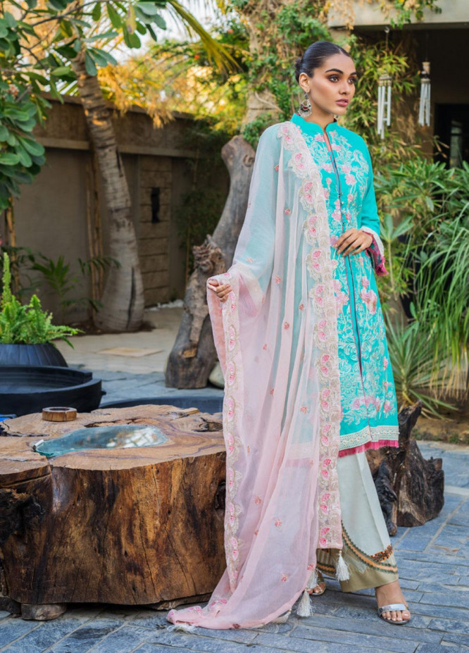 Kalyan By ZS Embroidered Jacquard Unstitched 3 Piece Suit KLY20D 07 - Summer Collection