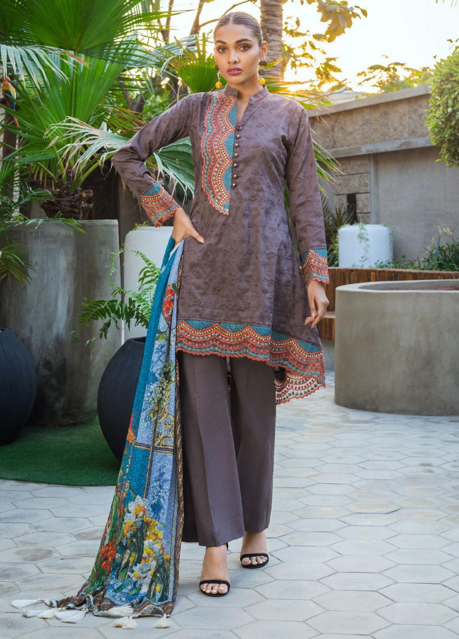 Kalyan By ZS Embroidered Jacquard Unstitched 3 Piece Suit KLY20D 09 - Summer Collection