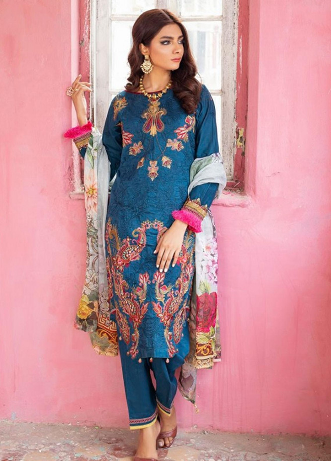 Kalyan By ZS Embroidered Lawn Unstitched 3 Piece Suit KLY20E 9 - Spring / Summer Collection