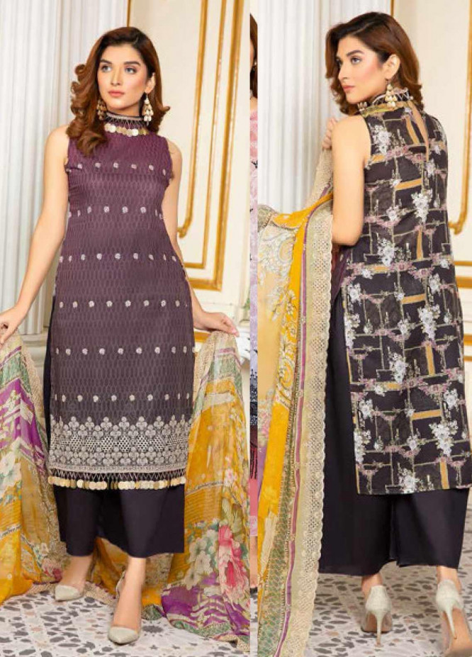 Kesarin by Riaz Arts Embroidered Lawn Unstitched 3 Piece Suit KRA20L 04 - Summer Collection