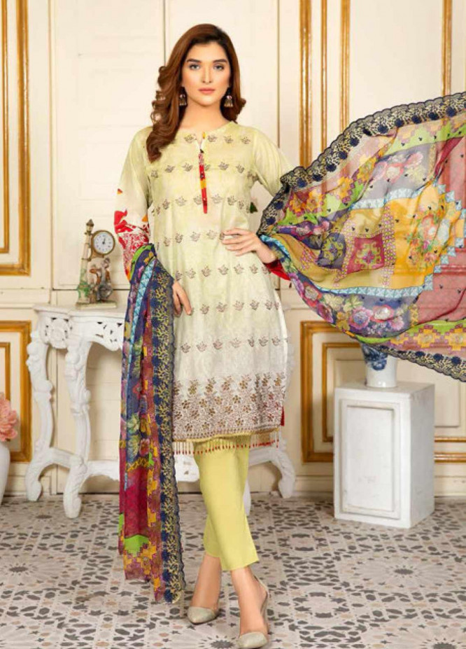 Kesarin by Riaz Arts Embroidered Lawn Unstitched 3 Piece Suit KRA20L 06 - Summer Collection