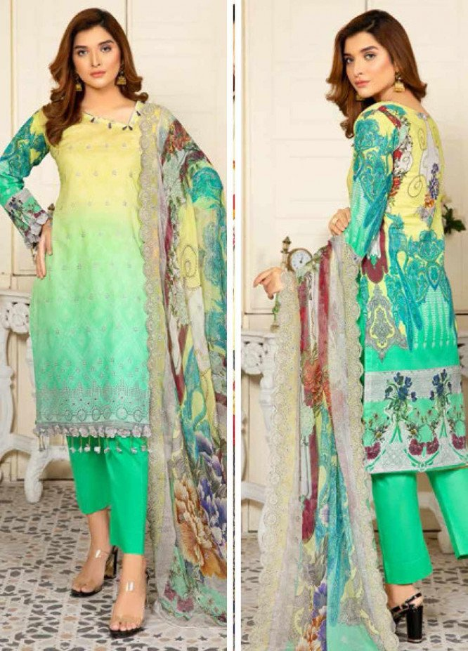 Kesarin by Riaz Arts Embroidered Lawn Unstitched 3 Piece Suit KRA20L 07 - Summer Collection