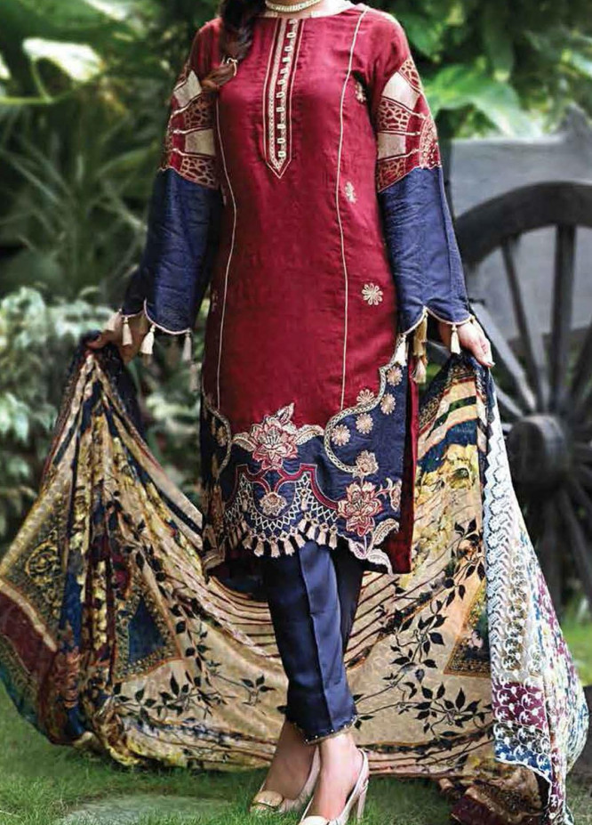 Khaka by Puri Fabrics Embroidered Viscose Unstitched 3 Piece Suit KH20C 01 - Winter Collection