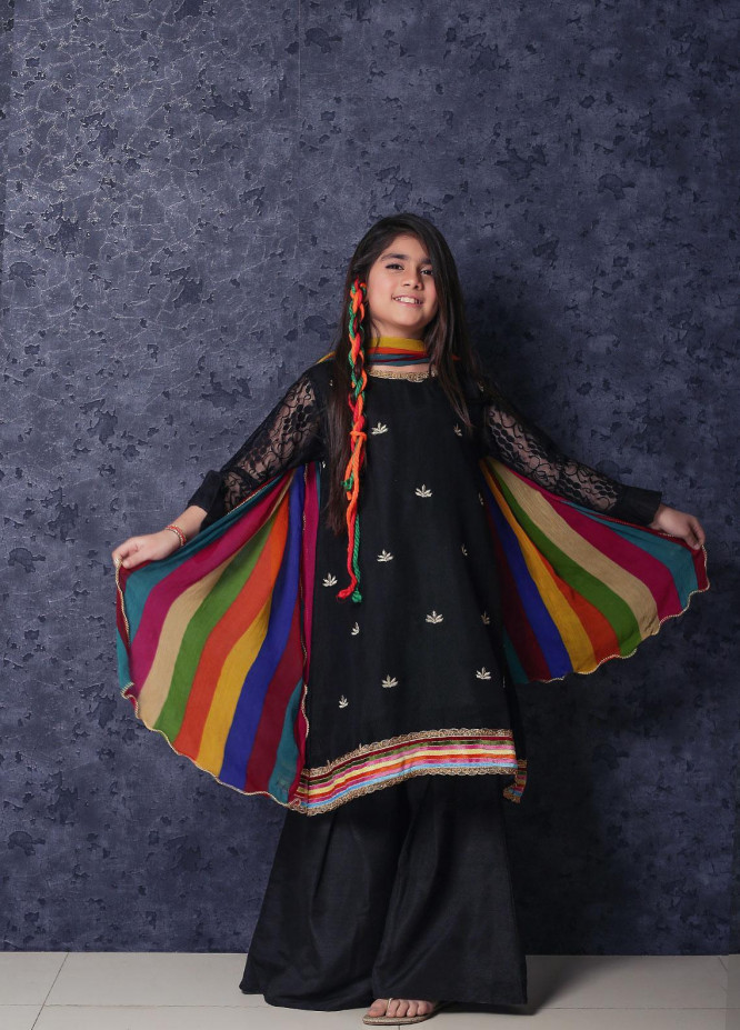 Nargis Shaheen Cotton Net Formal Girls 3 Piece Suit - NSK-014