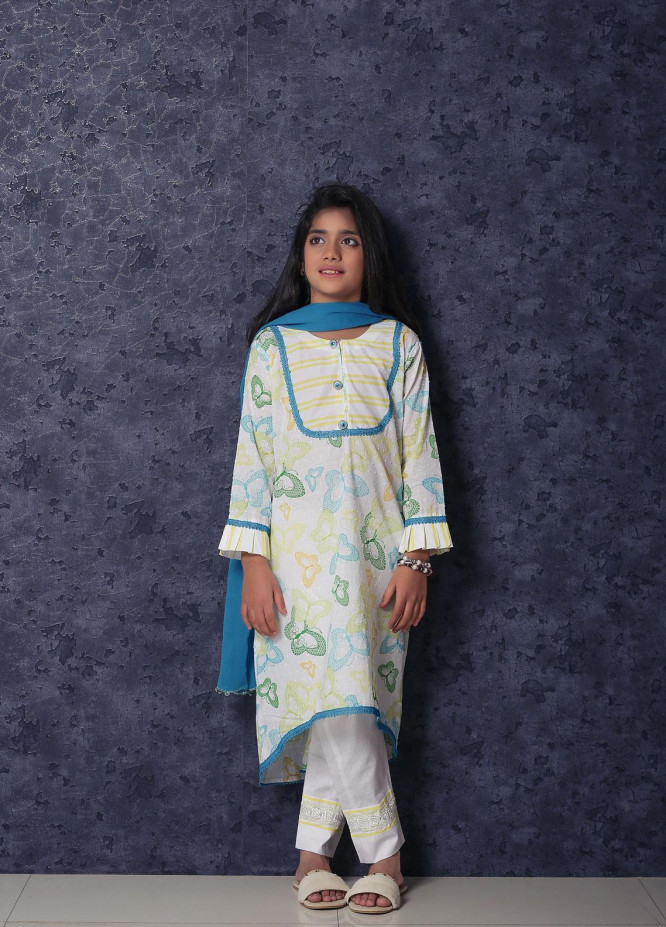 Nargis Shaheen Lawn Casual 3 Piece Suit for Girls -  NSK-019