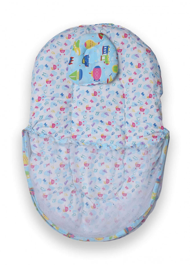 Plush Mink Poly Fiber Carrier Nest 2 in 1 PEEKABOO CARRIER NEST - ROUND SHAPED Blue - Baby Products