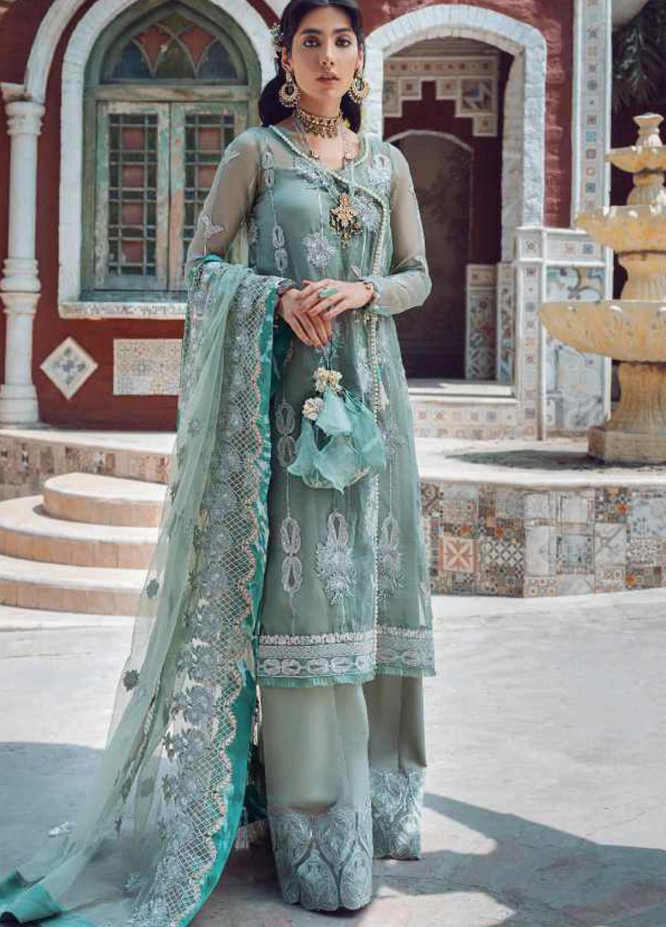 Kinaar by Shiza Hassan Embroidered Organza Unstitched 3 Piece Suit SH20KF 01 Sohni - Festive Collection