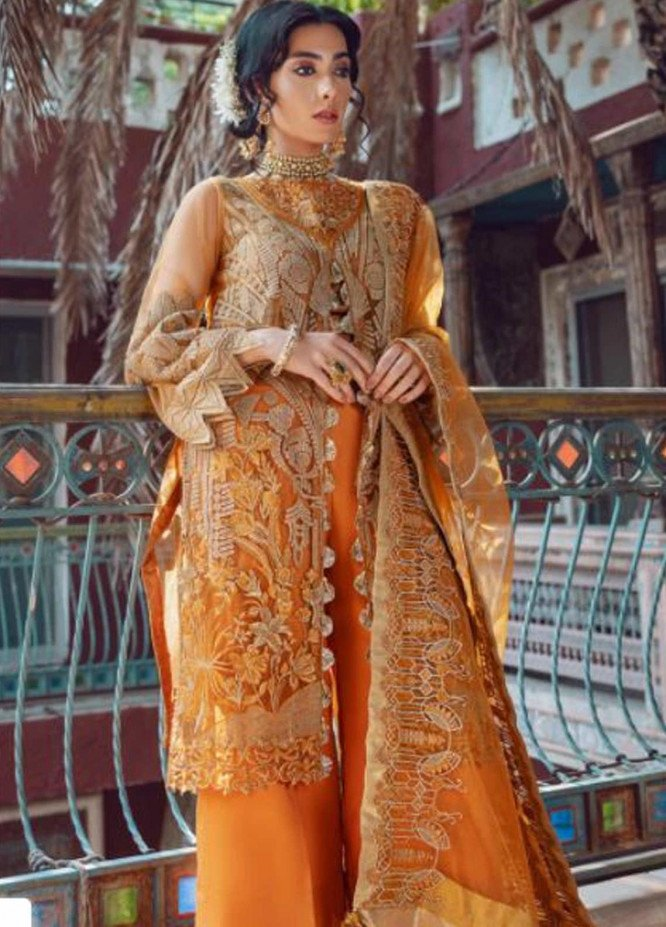 Kinaar by Shiza Hassan Embroidered Poly Net Unstitched 3 Piece Suit SH20KF 02 Zuri - Festive Collection