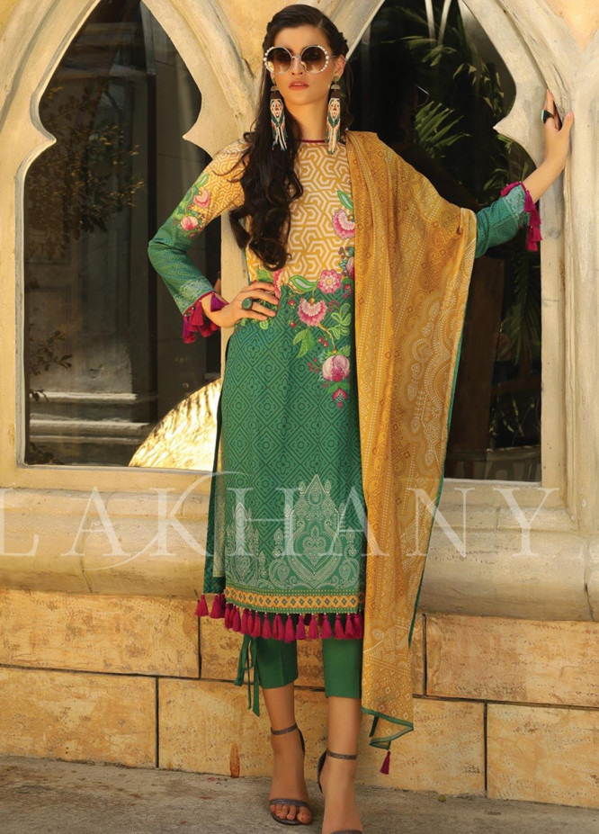 Lakhany Printed Lawn Unstitched 3 Piece Suit KL20LSM 19 - Spring / Summer Collection