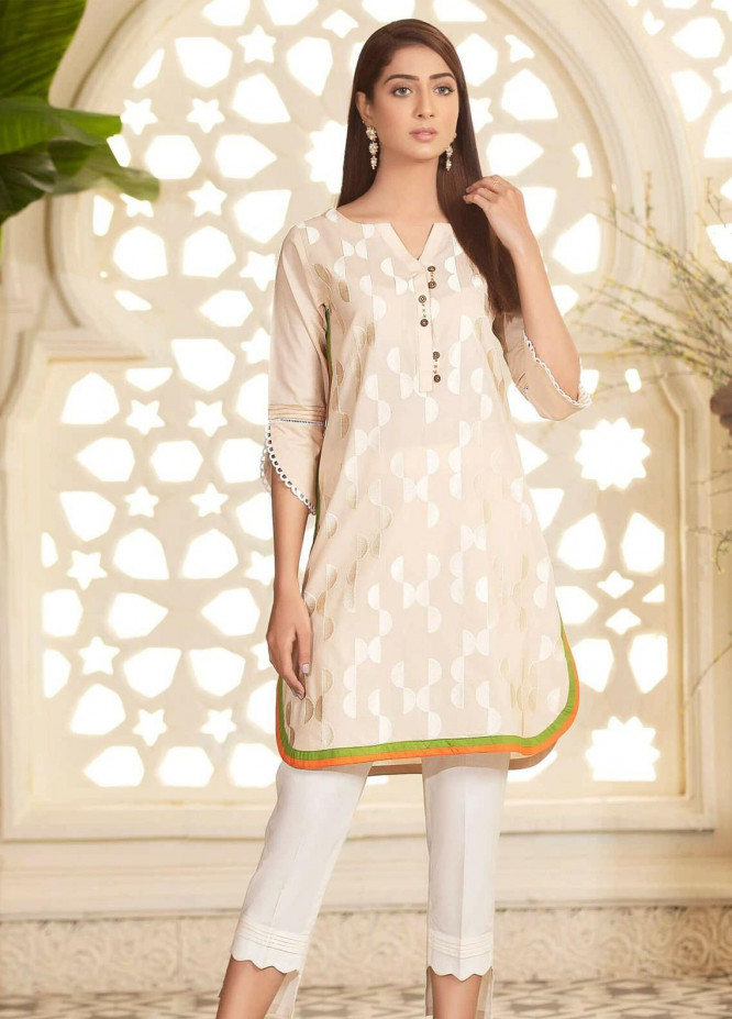 Kross Kulture Embroidered Cambric Stitched Kurtis KB-20434 Off White