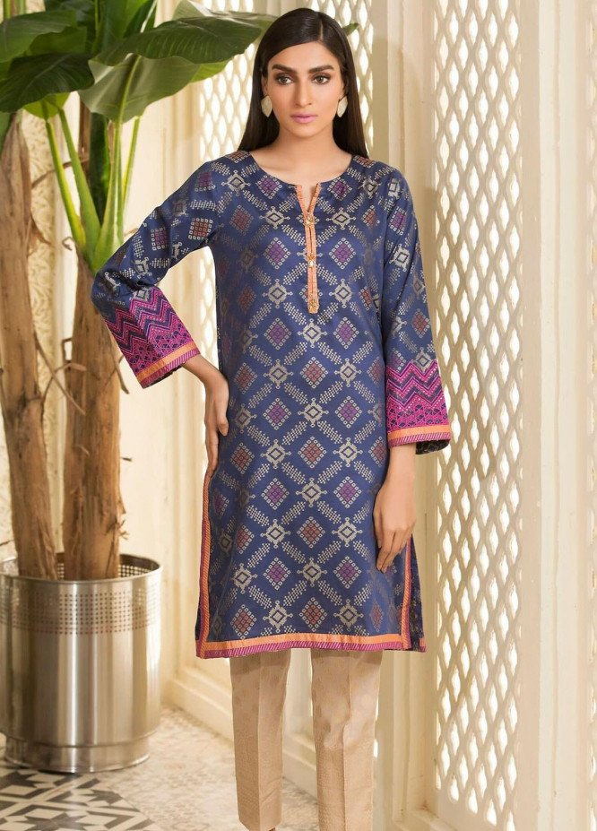 Kross Kulture Embroidered Woven Stitched Kurtis KB-20593 Blue