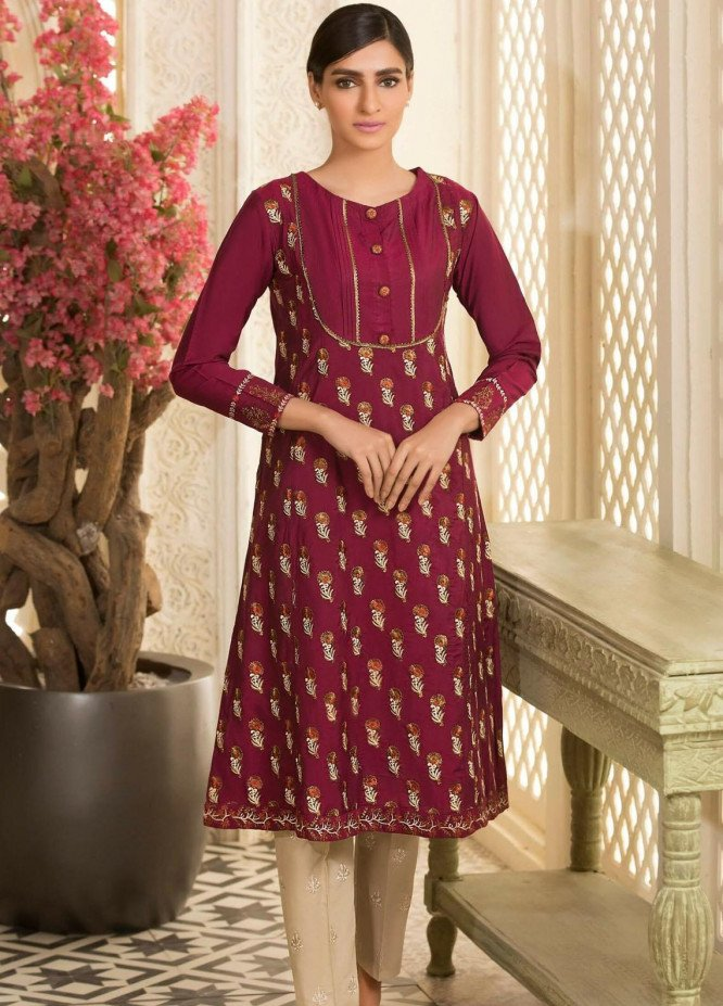Kross Kulture Embroidered Cotton Net Stitched Kurtis KE-20703 Majenda