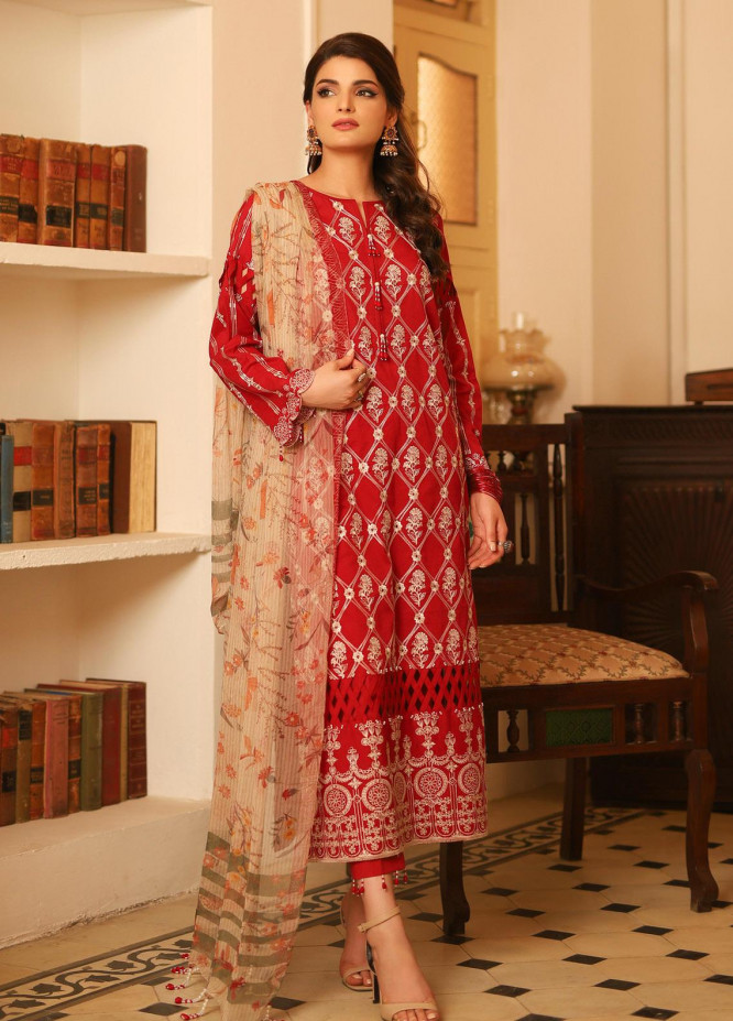 Lakhany Embroidered Lawn Unstitched 3 Piece Suit LSM20M BLC-5010 - Festive Collection