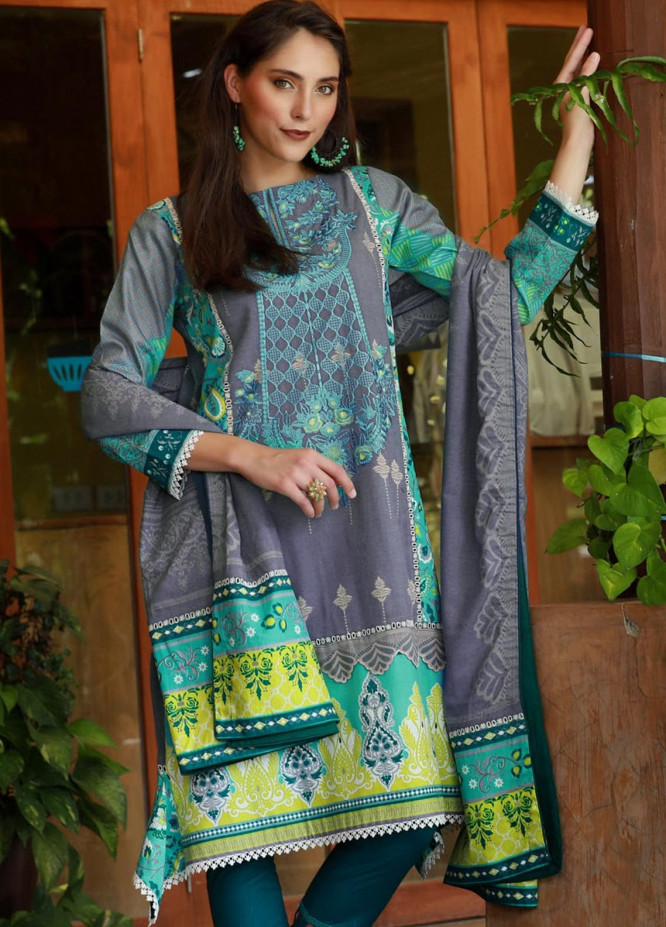 Lakhany Embroidered Viscose Unstitched 3 Piece Suit LSM18MP 9902B - Formal Collection