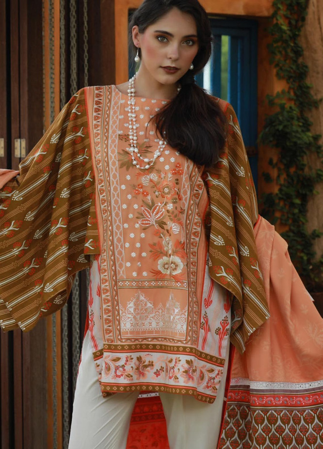 Lakhany Embroidered Viscose Unstitched 3 Piece Suit LSM18MP 9903B - Formal Collection