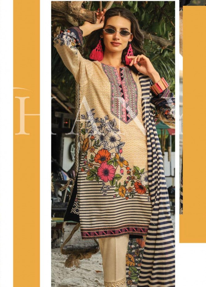 Lakhany Embroidered Lawn Unstitched 3 Piece LSM20SS 2052 - Summer Collection
