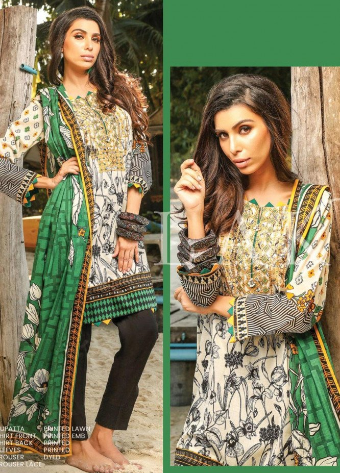 Lakhany Embroidered Lawn Unstitched 3 Piece LSM20SS 2053 - Summer Collection