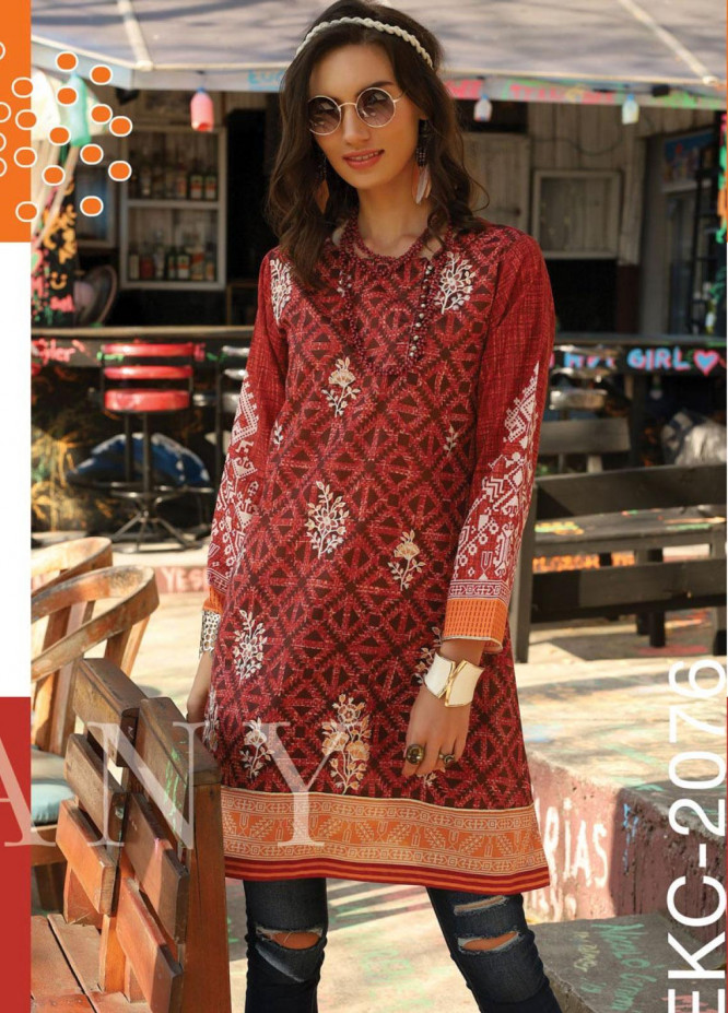 Lakhany Embroidered Lawn Unstitched Kurties LSM20SS 2076 - Summer Collection