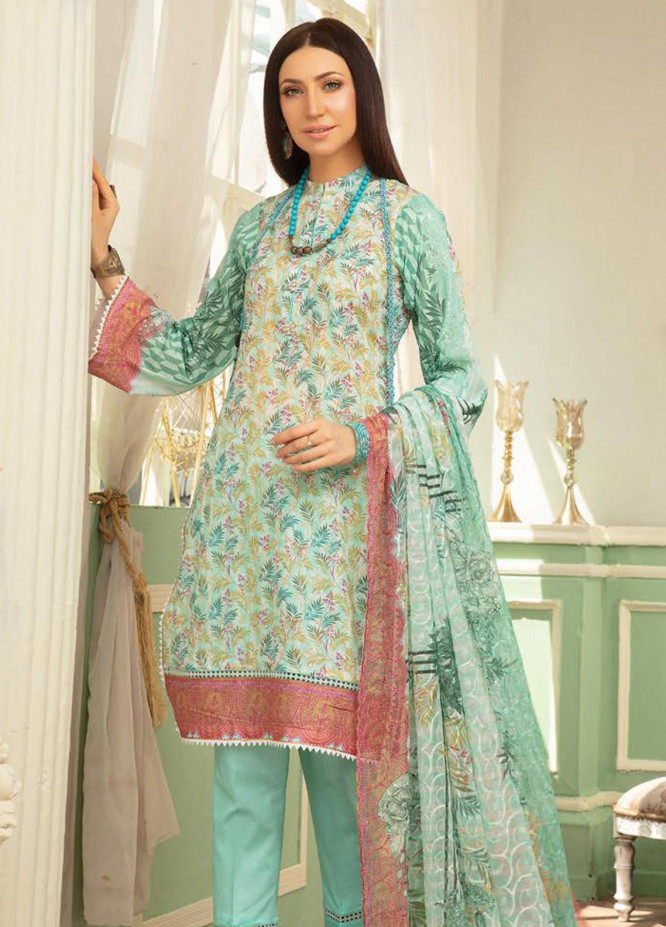 Mahee's by Riaz Arts Printed Chikankari Lawn Unstitched 3 Piece Suit RA20MP ML 06 - Spring / Summer Collection