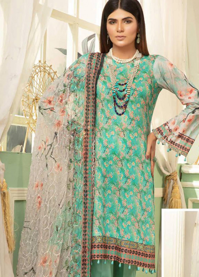 Mahee's by Riaz Arts Printed Chikankari Lawn Unstitched 3 Piece Suit RA20MP ML 09 - Spring / Summer Collection