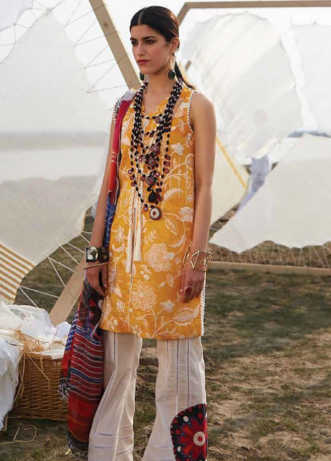 Mahgul Embroidered Lawn Unstitched 3 Piece Suit MG20M 05 - Luxury Collection