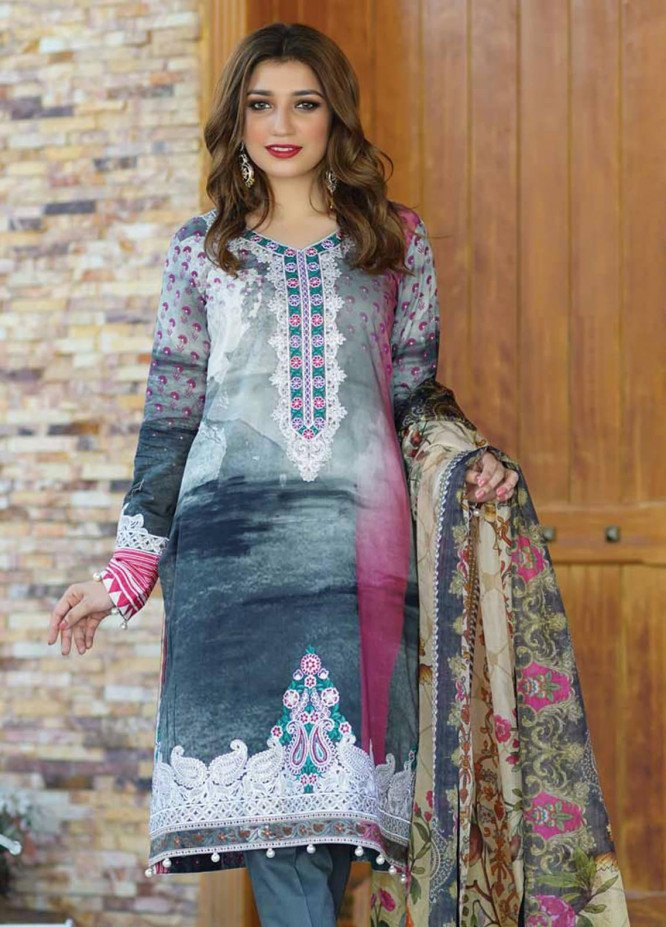 Mahi by Marwat Textiles Embroidered Lawn Unstitched 3 Piece Suit MMT20M M-05 - Luxury Collection