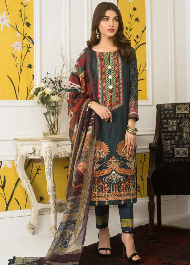 Mahnoor by Al Zohaib Embroidered Lawn Unstitched 3 Piece Suit M20AZ 11 - Spring / Summer Collection