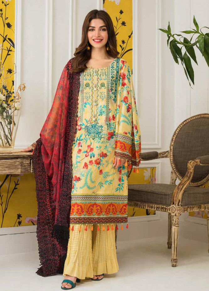 Mahnoor by Al Zohaib Embroidered Lawn Unstitched 3 Piece Suit M20AZ 3 - Spring / Summer Collection