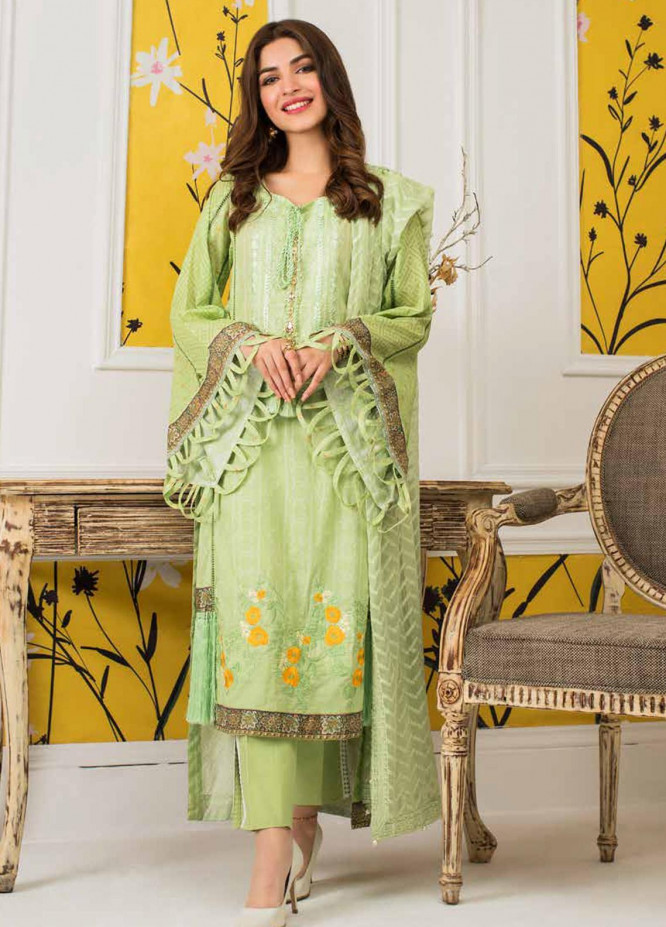 Mahnoor by Al Zohaib Embroidered Lawn Unstitched 3 Piece Suit M20AZ 4 - Spring / Summer Collection