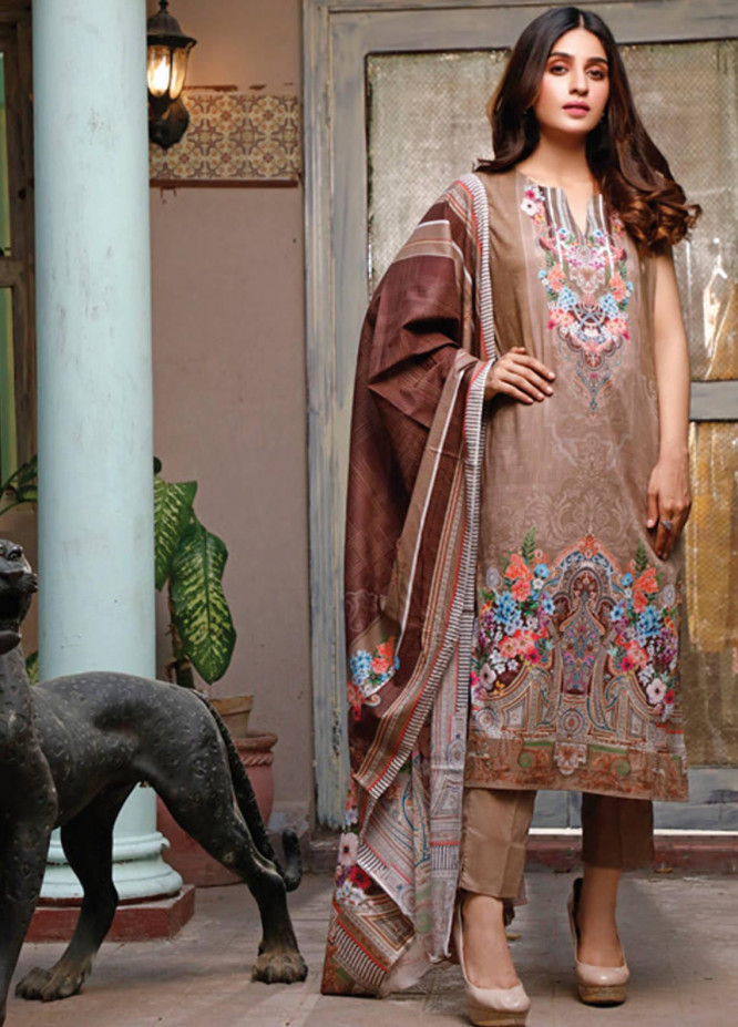 Malhar Printed Lawn Unstitched 3 Piece Suit ML20D 236-B - Spring / Summer Collection