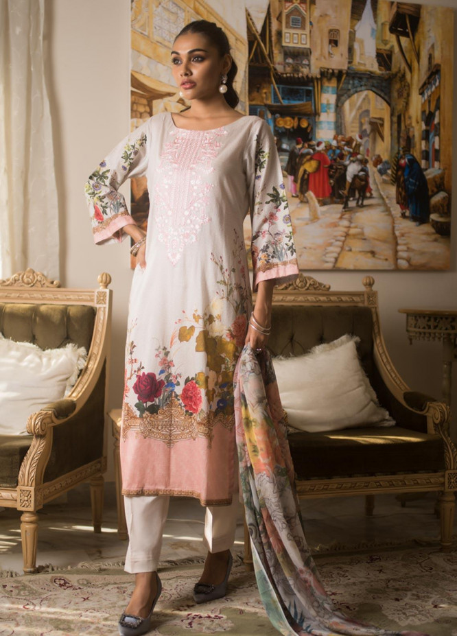 Malkah by ZS Textile Embroidered Lawn Unstitched 3 Piece Suit MLK19MS 7 - Mid Summer Collection