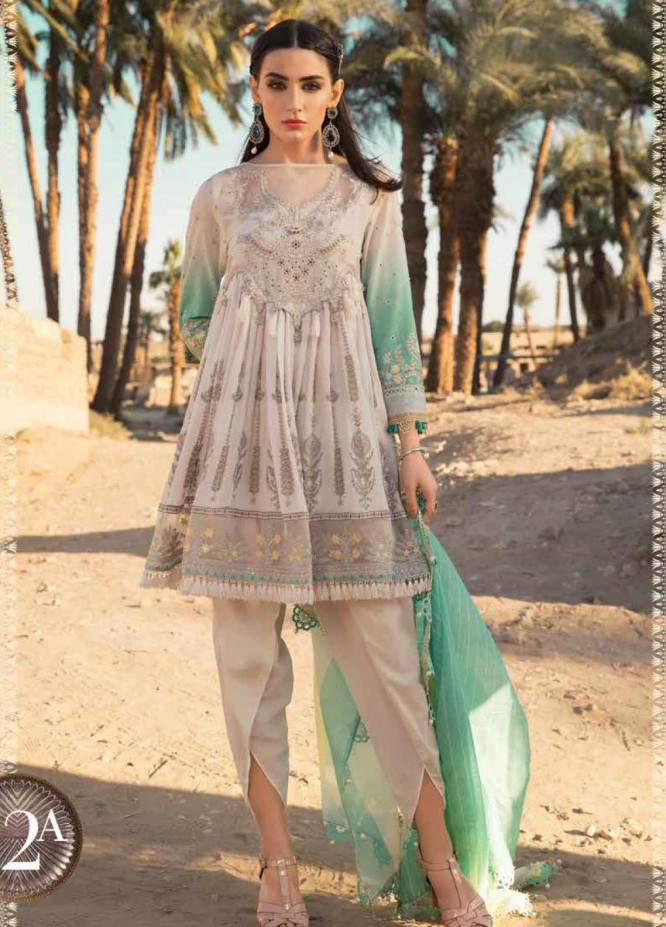 Maria B Embroidered Lawn Unstitched 3 Piece Suit MB20SV 2012 A - Spring / Summer Collection