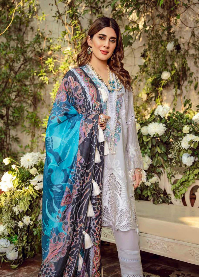 Maryam Hussain Embroidered Lawn Unstitched 3 Piece Suit MRH20F D-09 NOOR - Festive Collection