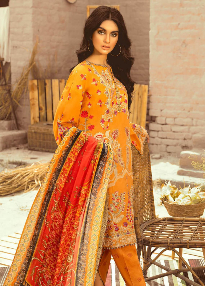 Maryum N Maria Embroidered Lawn Unstitched 3 Piece Suit MNM20L 02 ROMAN LIGHT - Premium Collection