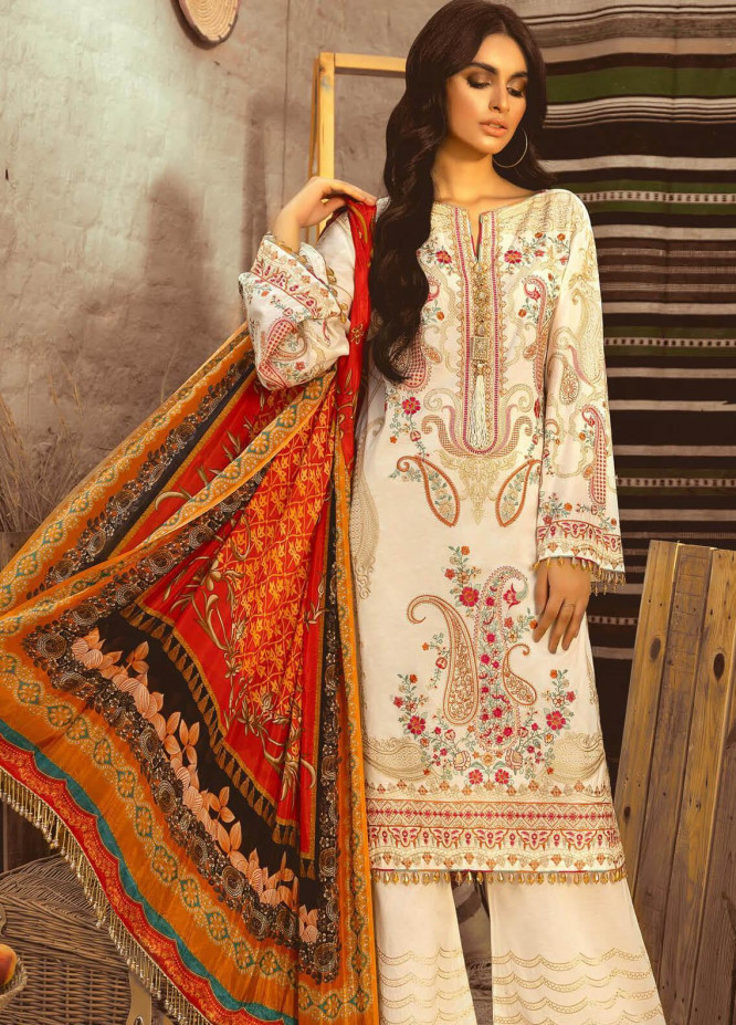 Maryum N Maria Embroidered Lawn Unstitched 3 Piece Suit MNM20L 04 DAY MAJESTIC - Premium Collection