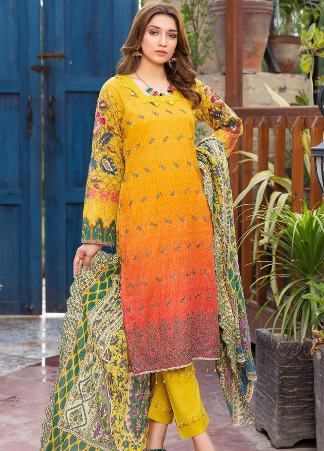 Mashal by Riaz Arts Embroidered Lawn Unstitched 3 Piece Suit RA20M 003 - Spring / Summer Collection