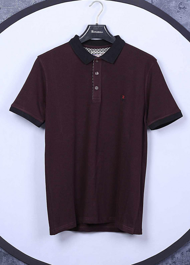 Sanaulla Exclusive Range Cotton Casual T-Shirts for Mens -  5326 Maroon