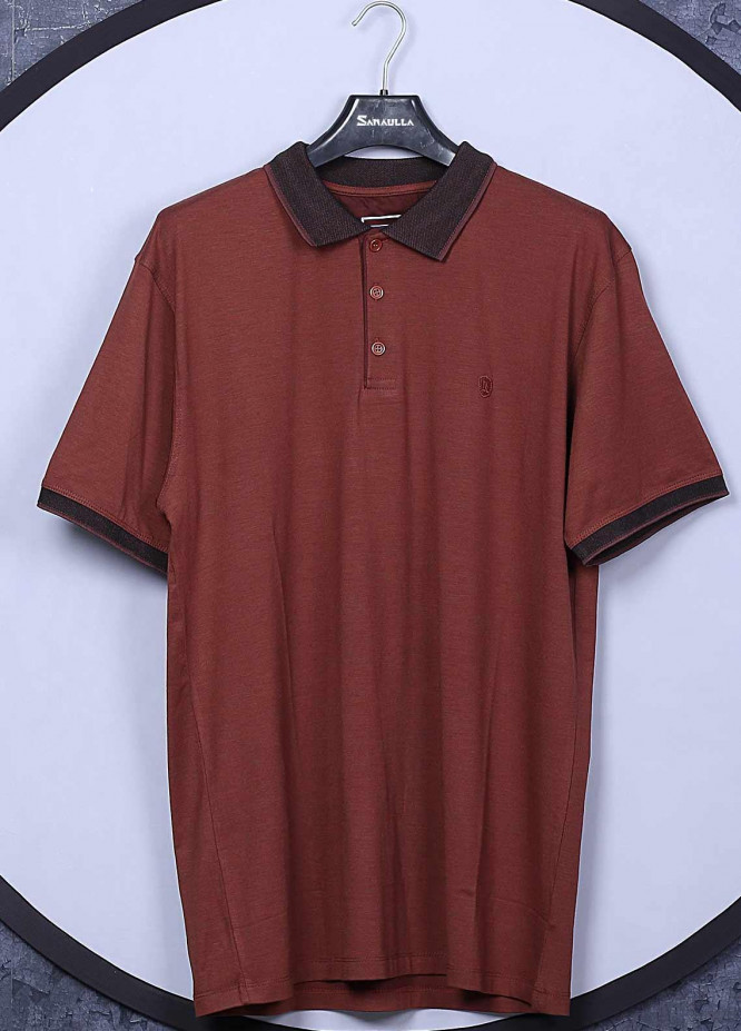 Sanaulla Exclusive Range Cotton Casual Men T-Shirts -  5570 Rust