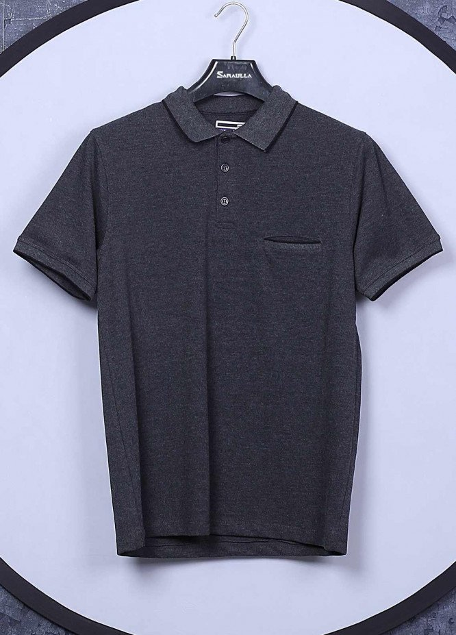 Sanaulla Exclusive Range Cotton Casual T-Shirts for Men -  5595 Dark Grey
