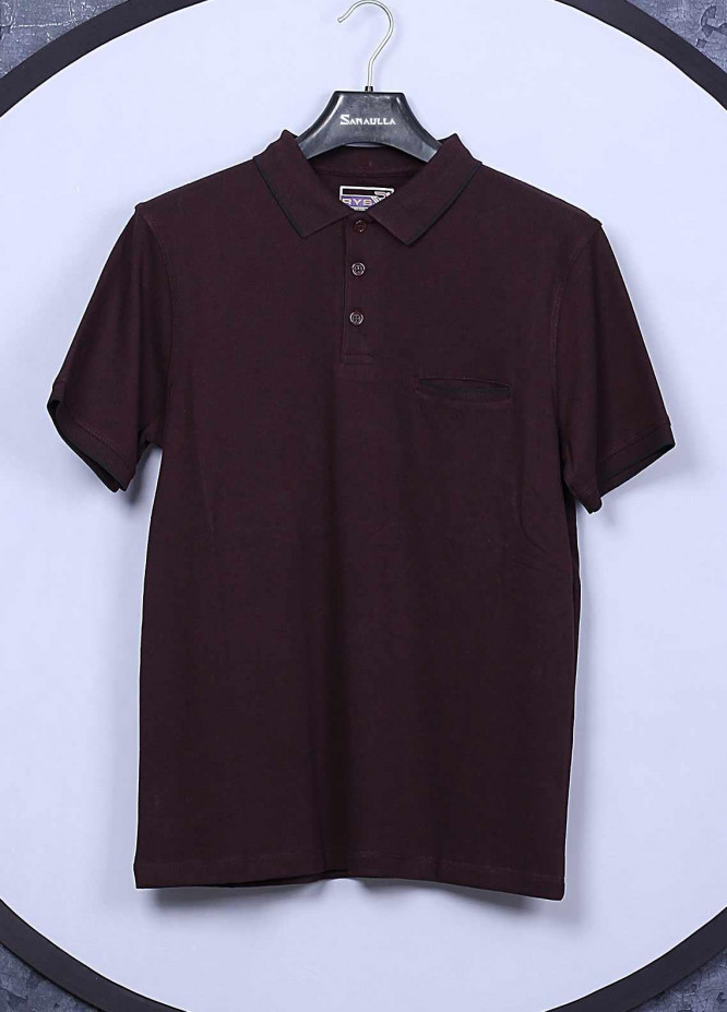 Sanaulla Exclusive Range Cotton Casual Men T-Shirts -  5595 Maroon