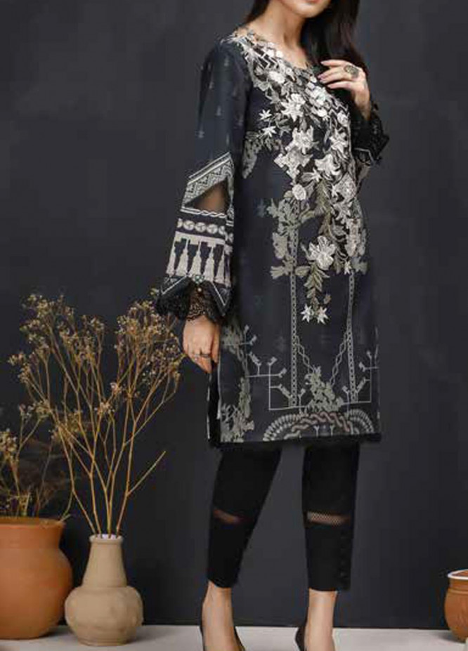 Mishkal by Rungrez Embroidered Lawn Unstitched 2 Piece Suit RNG20BW 03 - Black & White Collection